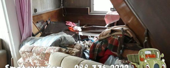 изхвърляне на стари мебели в жилища кв. Военна рампа