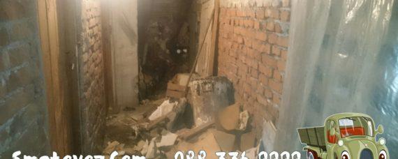 Разчистваме дворно място от боклуци Манастирски Ливади